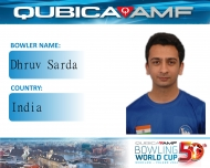 Dhruv Sarda finishes 20th at  the 50th Qubica AMF World Cup 2014